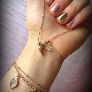 Gold Bird Necklace - Chloe + Isabel